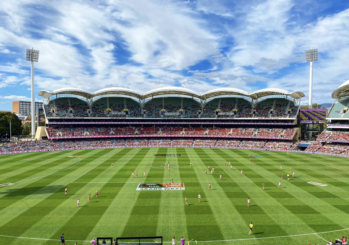 14 teams 420 players 9 home-and-away rounds 3 weeks of finals 120,000 attendees 13 sell outs Record memberships sold  A game moved to a different state within 12 hours, a game played on a Monday arvo, a team relocated for an entire month.  The 2021 AFLW season that was.  #AFLWGF https://t.co/yV9GbAg18e.