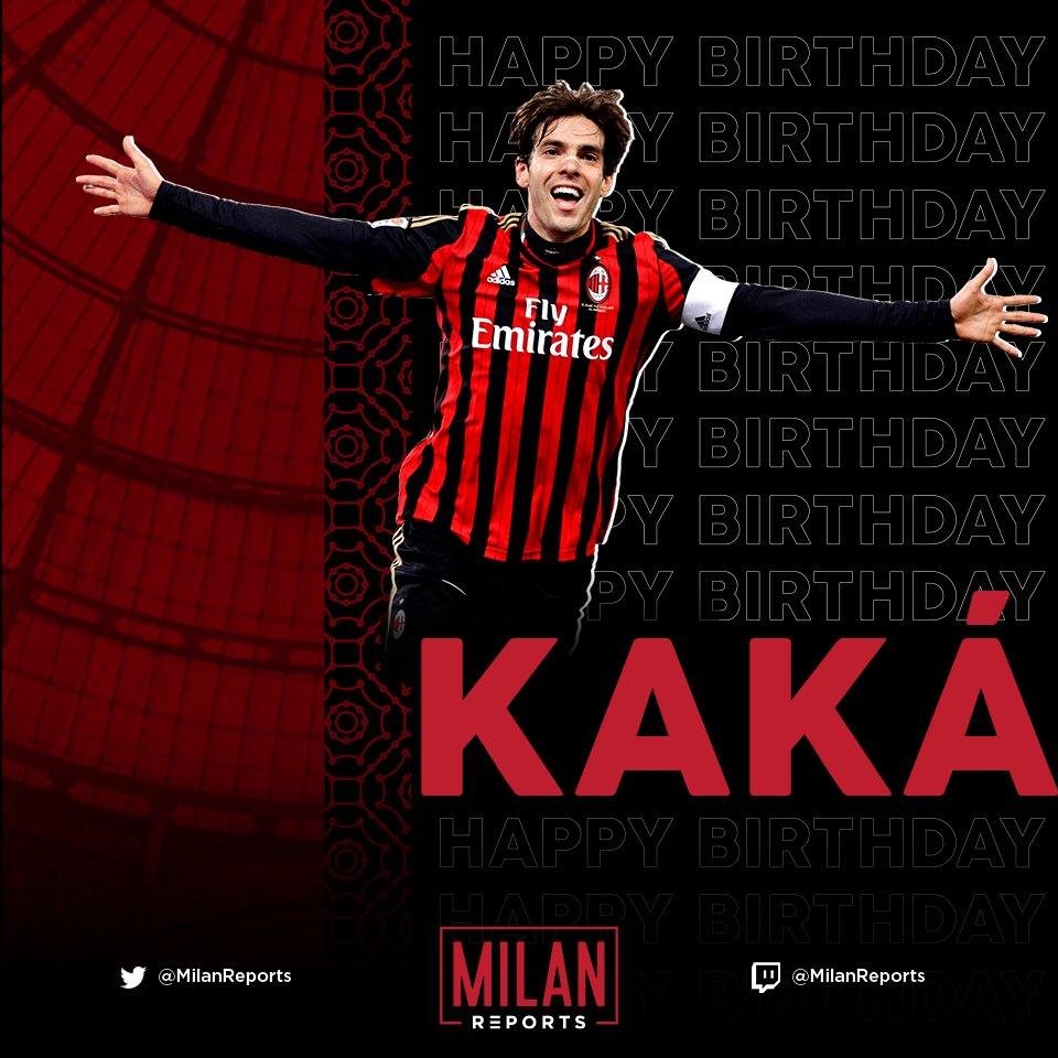 🎂 Happy Birthday @KAKA 🔴⚫️ https://t.co/H8D6E0pt4b