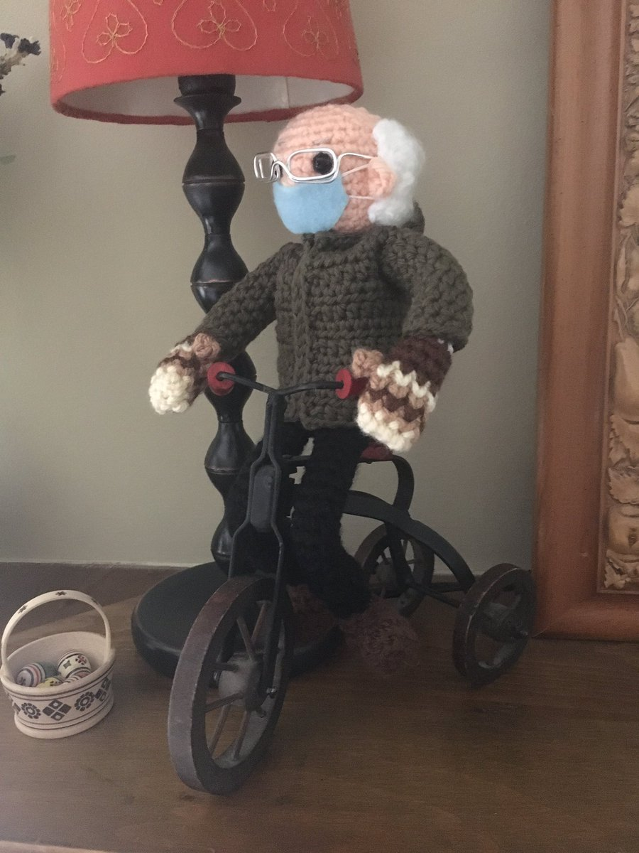 Love my Bernie on a Bike ....❤️ lol #BernieSanders #mittens #Inauguration2021 #ElfonaShelf #blm