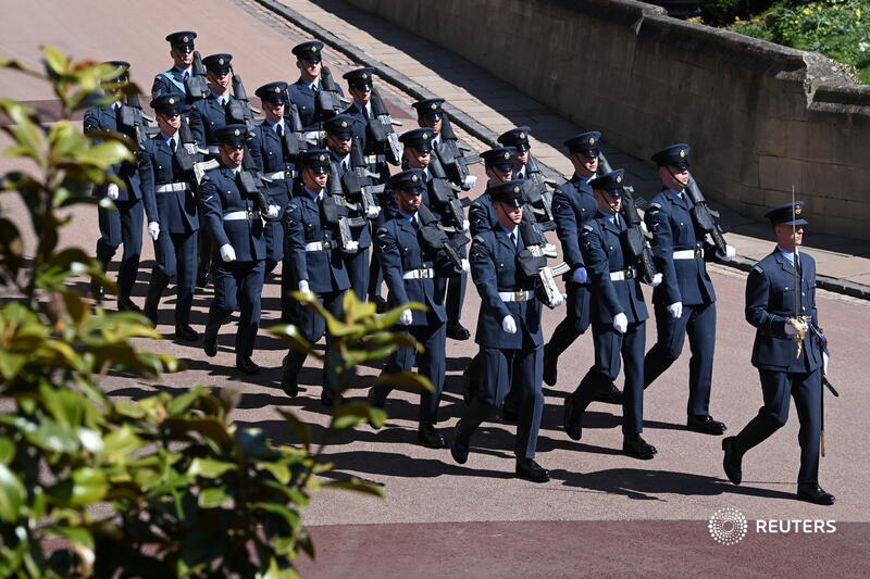 Funeral service for Britains Prince Philip reut.rs/2Qc7eoD