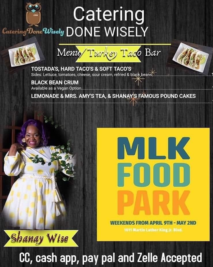 test Twitter Media - If you're headed to the MLK Food Park this weekend, check out two WiNGS members: Amber William and Shanay Wise 1611 Martin Luther King Jr. Blvd. @cateringdonewisely @seauxtasty https://t.co/ynt1SVy6Ha