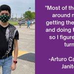 Image for the Tweet beginning: SEIU Texas member Arturo knows