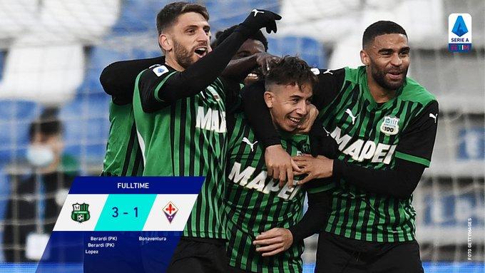 Hasil akhir Sassuolo 3-1 Fiorentina