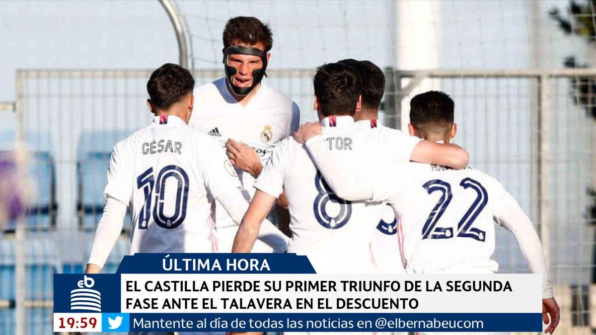 🔴 #ÚLTIMAHORA | El Castilla pierde su primer triunfo de la segunda fase ante el Talavera en el descuento https://t.co/WSTCwVu3nd https://t.co/mACt37JwEv