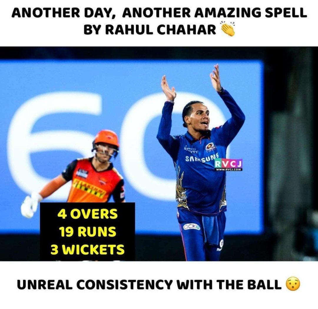 Victory 💙 @mipaltan 💙💙 Brilliant bowling by @rdchahar1 🙏🏻 Two magnificent run-outs by @hardikpandya7 👓 Two crucial back2back  sixes by @KieronPollard55 in the last over💙 Overall brilliant bowling attack by #MI  #mi #MIPaltan #OneFamily #MIvsSRH #believe #MumbaiIndians #Polly https://t.co/VWO1oahXh8