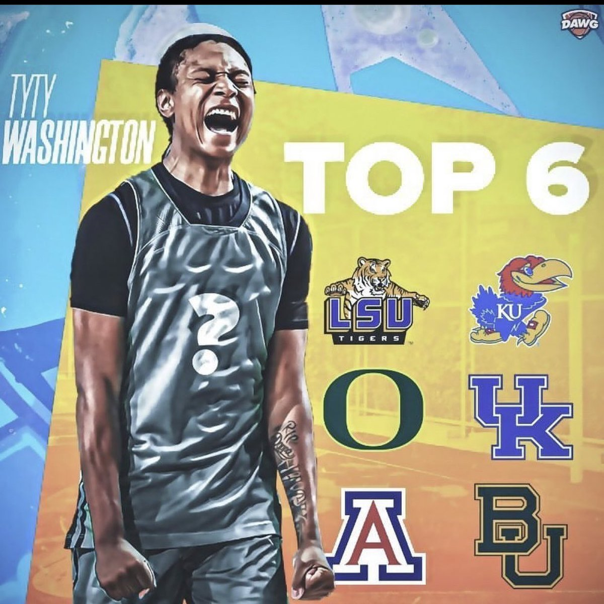 No surprise, UK is in the final 6 for TyTy Washington