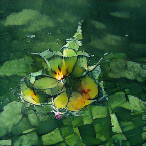 BigSleep - Spatially Ambiguous Water Lillies Painting