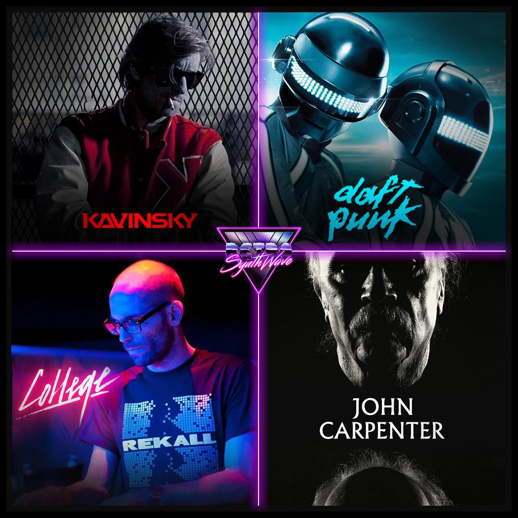 For U, who's the very 𝙁𝙄𝙍𝙎𝙏 of 𝙎𝙔𝙉𝙏𝙃𝙒𝘼𝙑𝙀 scene? ▪️ @iamKAVINSKY ➡️ rsw link:  ▪️ Daft Punk ▪️ @collegevalerie➡️ rsw link:  ▪️ @TheHorrorMaster John Carpenter #kavinsky #daftpunk #collegevalerie #johncarpenter #synthwave