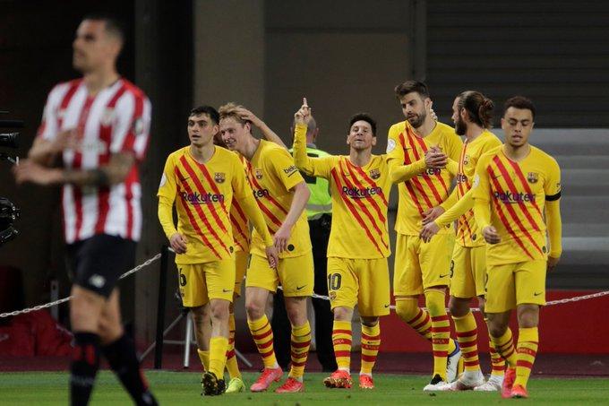 Barcelona oo ku guuleysatay Copa del Rey kaddib markii ay guul raaxo leh ka gaartay kooxda Athletic Bilbao… SAWIRRO