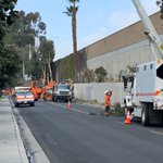 "Image for the Tweet beginning: Caltrans Maintenance ""swarm"" crews trimming"