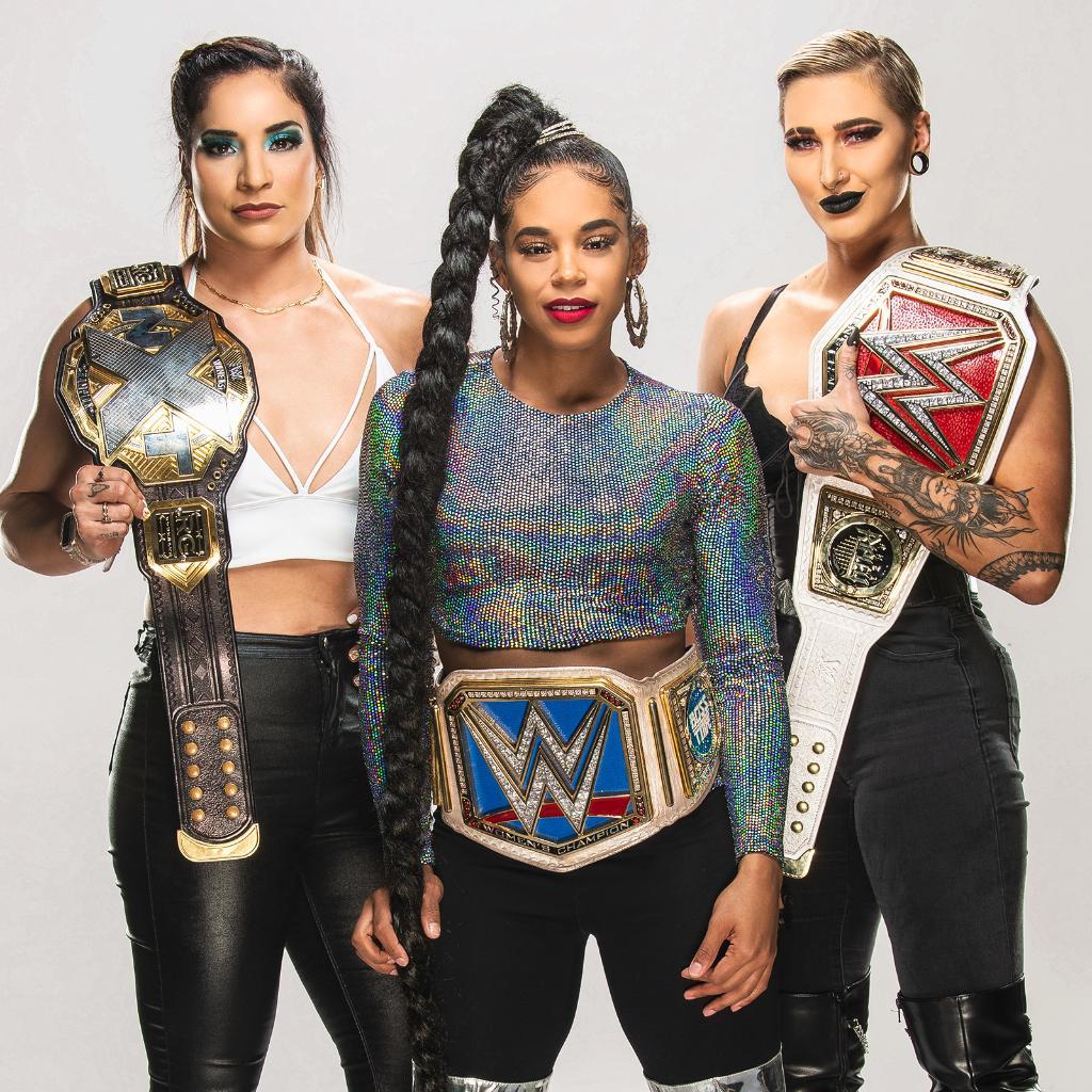 RT @WWE: Welcome to The New Era.   @RaquelWWE @BiancaBelairWWE + @RheaRipley_WWE https://t.co/sG7SwPMQkD