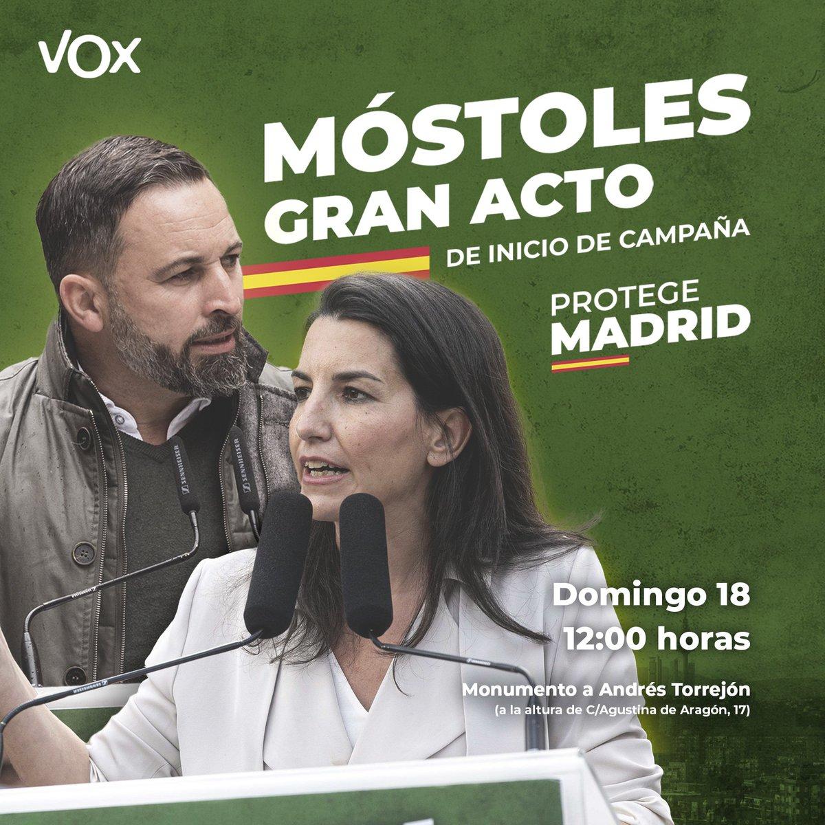 RT @vox_es: ¡Y este domingo nos vemos en Móstoles! https://t.co/xyh0hLUyxy