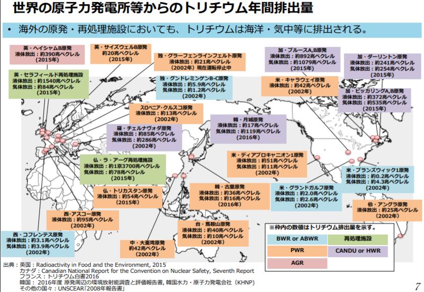 他国の原発がどの程度のトリチウムを出しているかをまとめたのが経産省のこちらの図になります。処理水の...