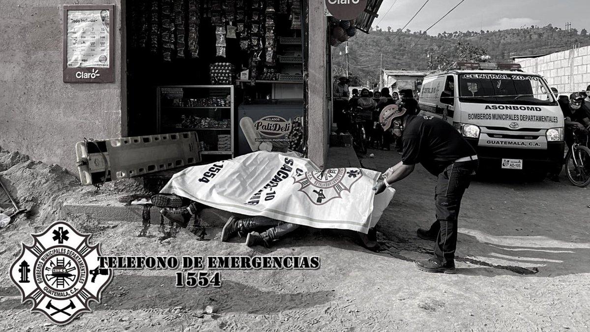 test Twitter Media - Bomberos Municipales Departamentales informan que en la Colonia Regalito de Dios, Sumpango, Sacatepéquez, incidente armado deja a 3 personas fallecidas en el lugar, 2 fallecidas en el Hospital Nacional de Chimaltenango y 1 herida.Foto: @CBMDEPTAL https://t.co/GdRw4V1d5f