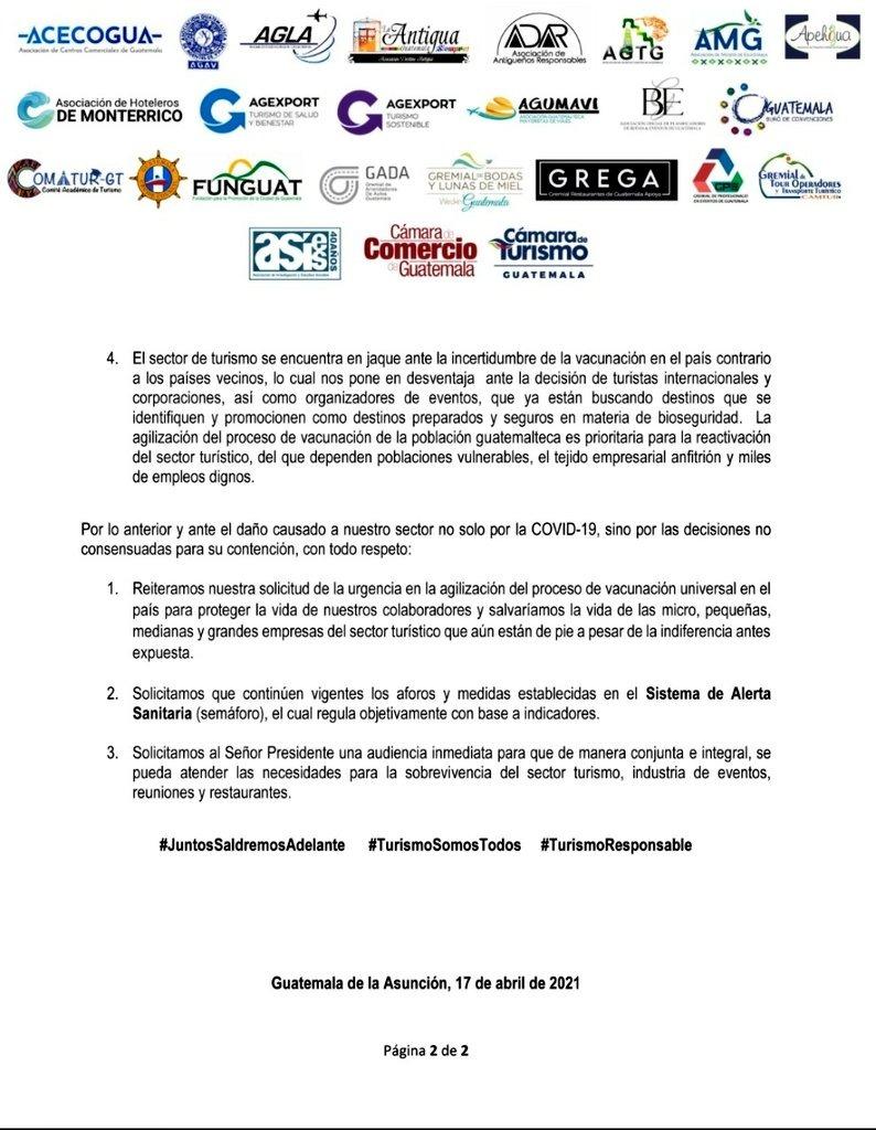 test Twitter Media - El Sector privado organizado por medio de una carta abierta enviada al presidente Alejandro Giammattei, se pronunció ante la entrada en vigencia del Decreto Gubernativo 4-2021. https://t.co/51wLXJRZiX