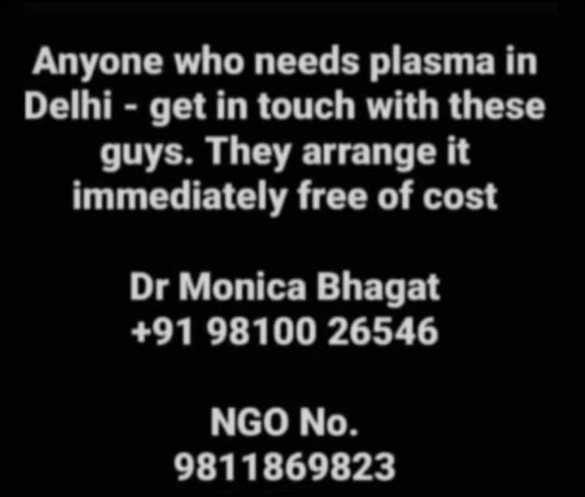 RT @Na1naaa: Info about Plasma in Delhi https://t.co/9YXVtESV9A