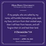 [CALENDAR] #DailyMotivation from 2 Chronicles 7:14. #HPU365