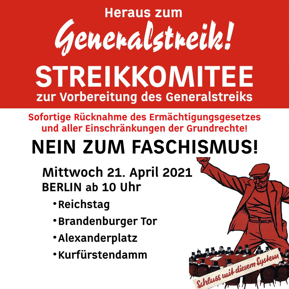 Das demokratische Deutschland sagt: Nein zum Faschismus!