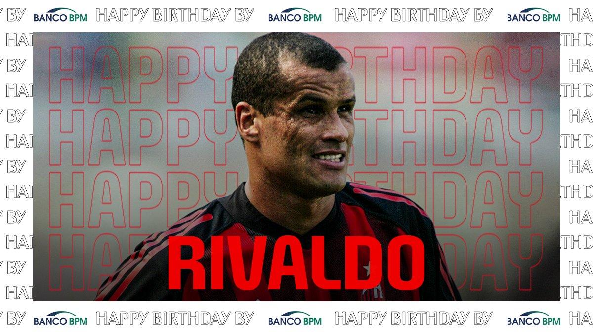 Feliz aniversário Rivaldo! 🎉   Tanti auguri Rivaldo 🎉   #SempreMilan   @BancoBPMSpa https://t.co/iIf1FmyHQ2