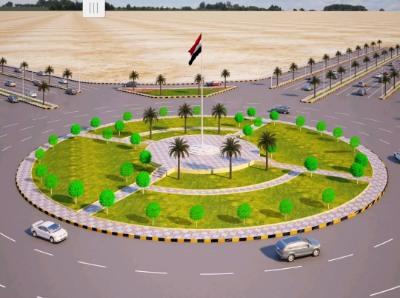 تدشين العمل في مشروع دوار الشهيد القائد عبدالرب الشدادي في مأرب