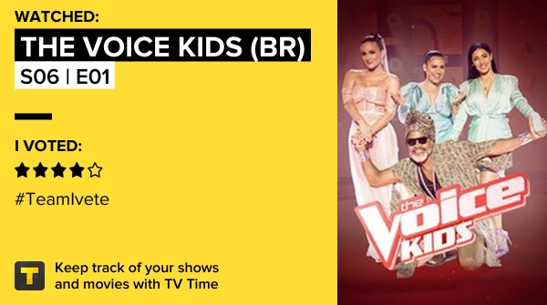 I've just watched episode S06 | E01 of The Voice Kids (BR)! #voicekids  https://t.co/pBs2nsRSHx #tvtime https://t.co/ztr5fRvAIB