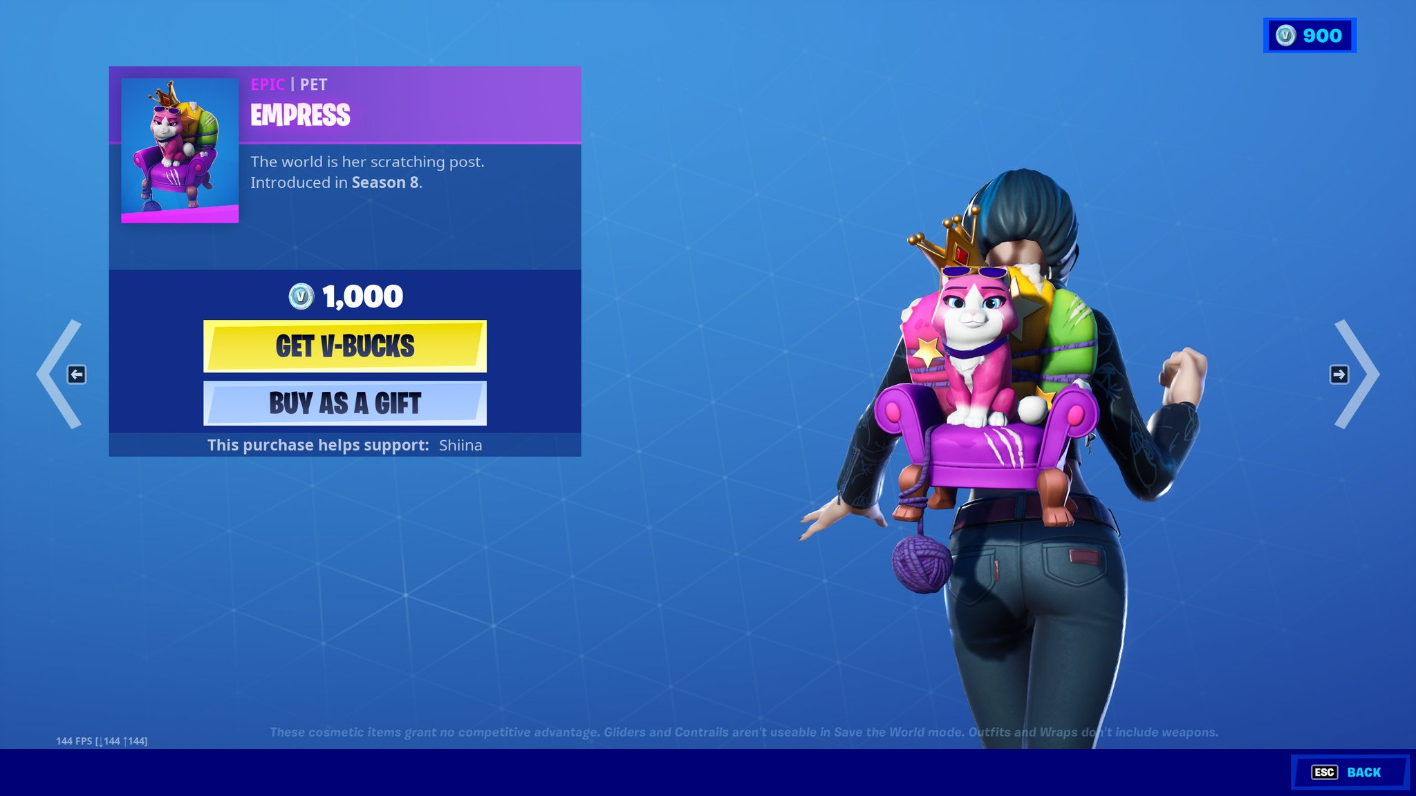 """ShiinaBR - Fortnite Leaks on Twitter: """"Empress is back in the Item Shop  after more than 2 years!!… """""""