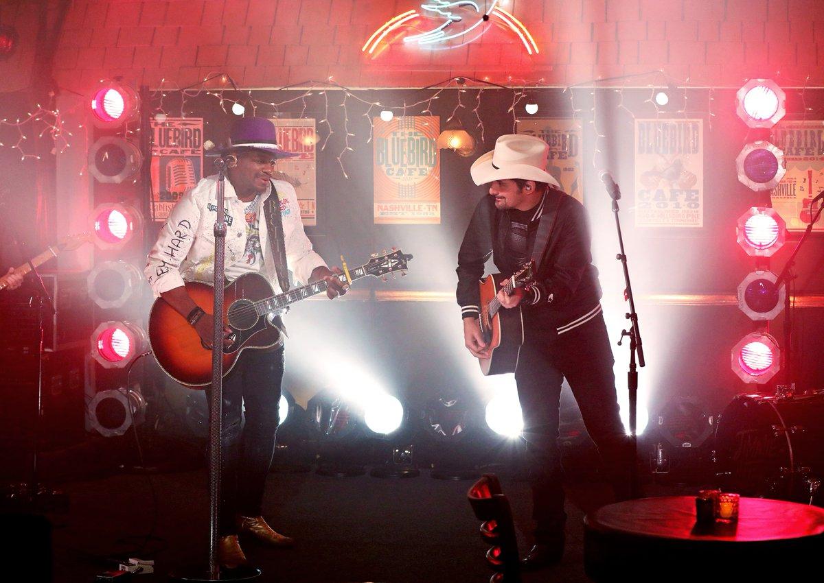 Brad Paisley Surprised Jimmie Allen During His 2021 ACM Performance