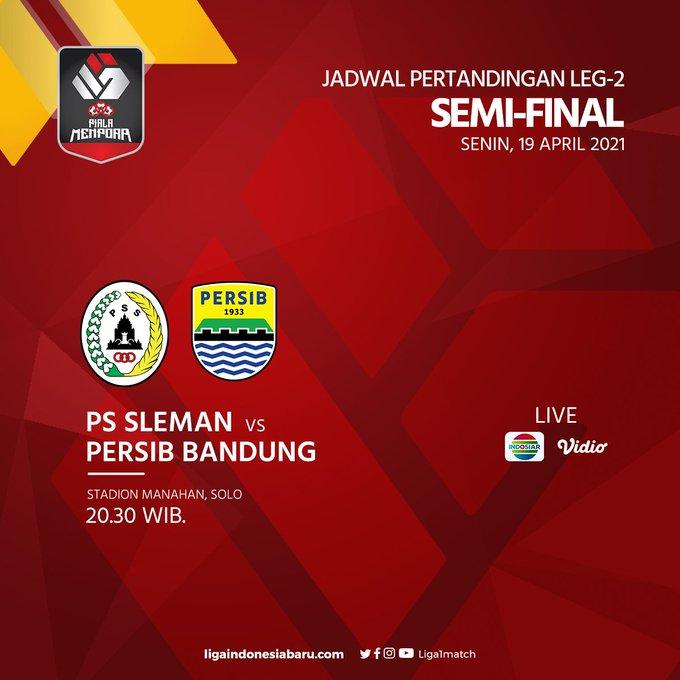 Semifinal Piala Menpora PS Sleman vs Persib Bandung