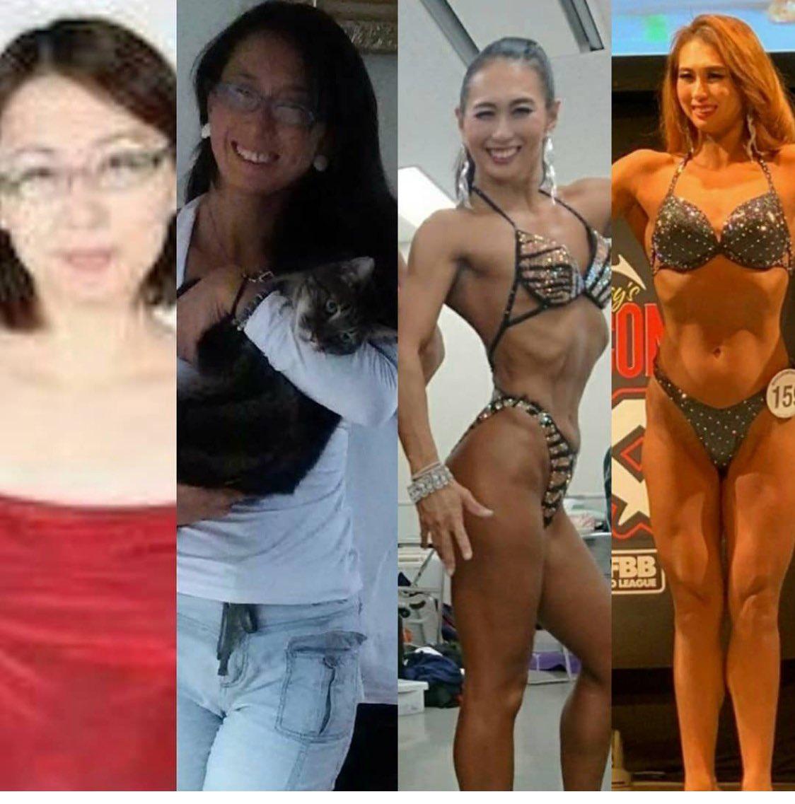 #同一人物とは思えない画像を貼れ  トレーニング前、トレ一年目、トレ三年目、トレ四年目✨ビフォワーアフターです😸✨
