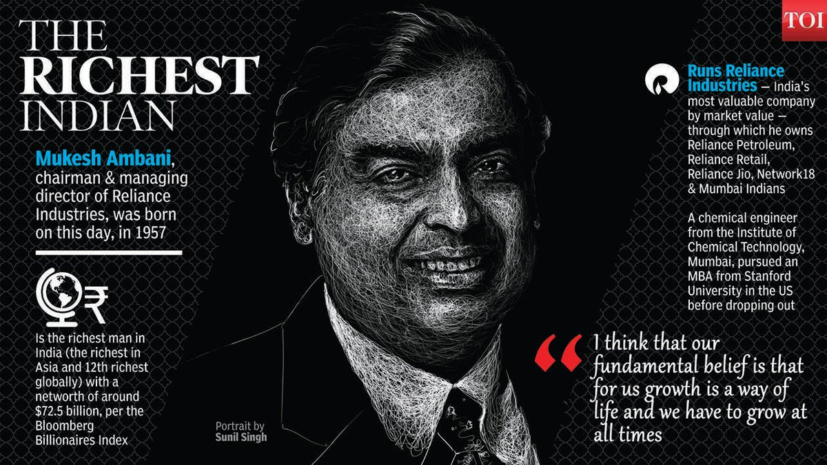 You share your birthday with...The richest Indian...Mukesh Ambani