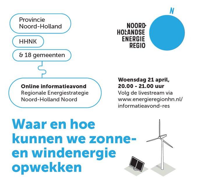Waar en hoe kunnen we zonne- en windenergie opwekken in Noord-Holland Noord?