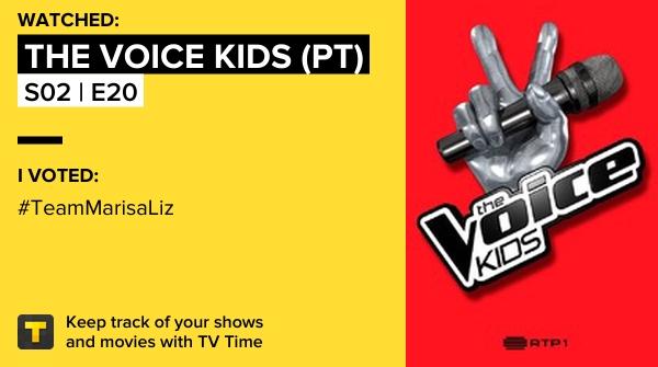 Acabei de ver o episódio S02 | E20 of The Voice Kids (PT)! #voicekids  https://t.co/pWwfQ0kpaT #tvtime https://t.co/Obwyep1G3y