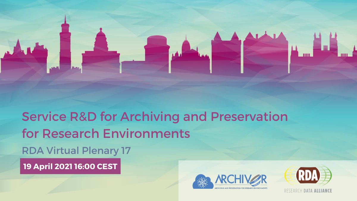 What are the current data preservation challenges addressed in EOSC? A set of innovative digital archiving and preservation solutions are being showcased at the @ArchiverProject session hosted by @RDA_Europe, for applications in High Energy Physics, Life Sciences & Astrophysics