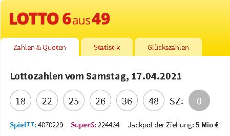 lottozahlen eingeben