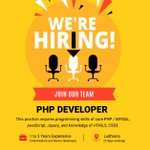 Image for the Tweet beginning: Hello Connections, We are hiring for