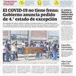 Image for the Tweet beginning: Lunes 19 abril Portadas periódicos #Ecuador