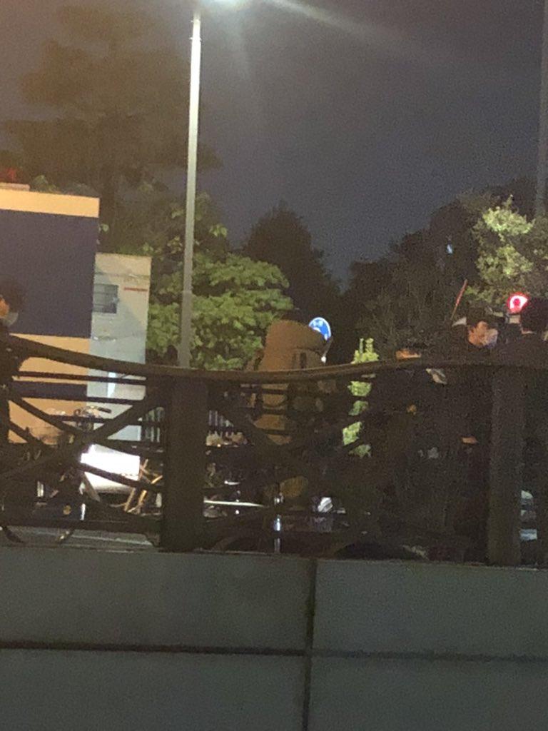 大田区で爆発物処理班が出動している画像