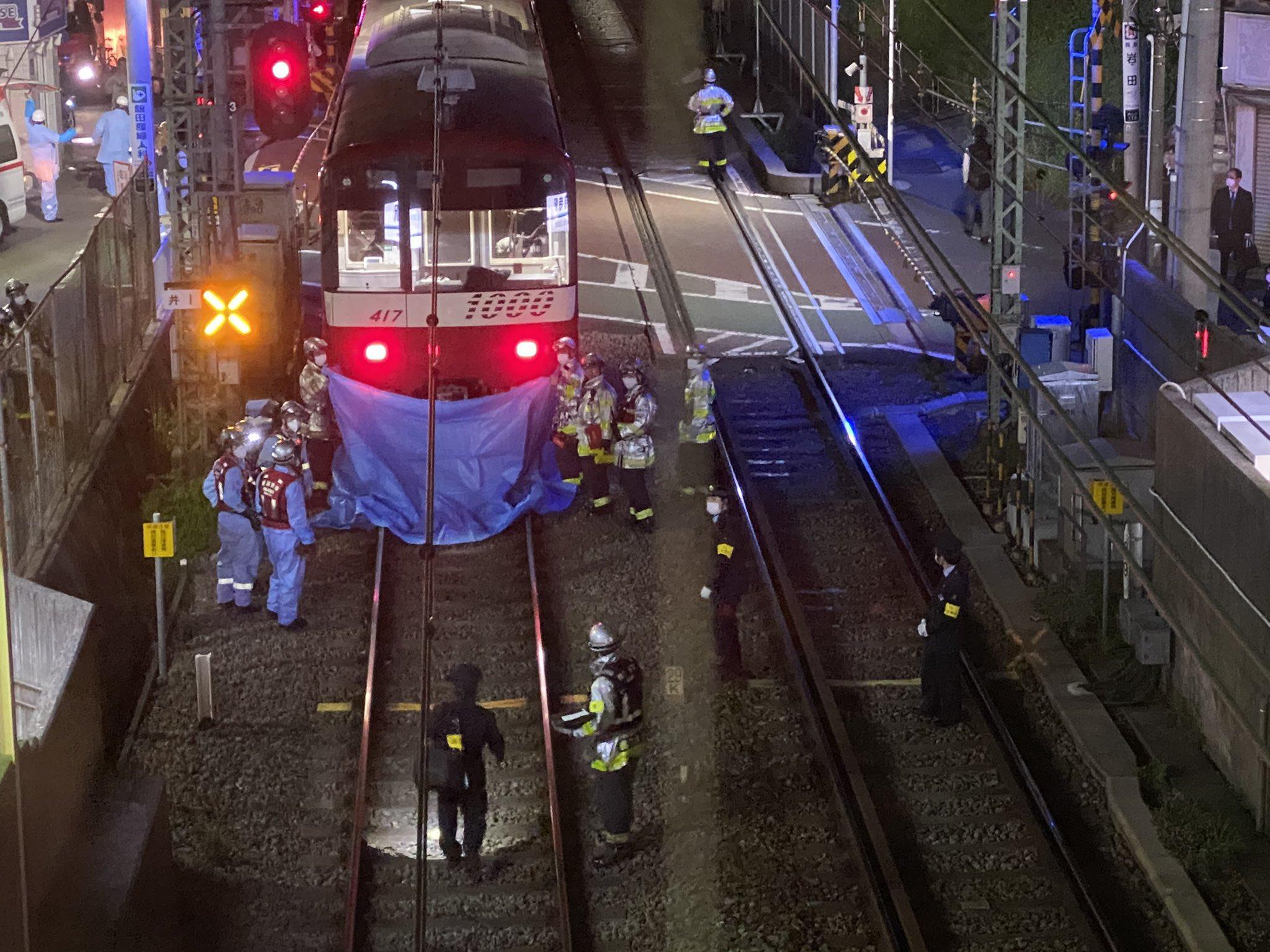 京急本線の弘明寺駅で人身事故が起きた現場の画像
