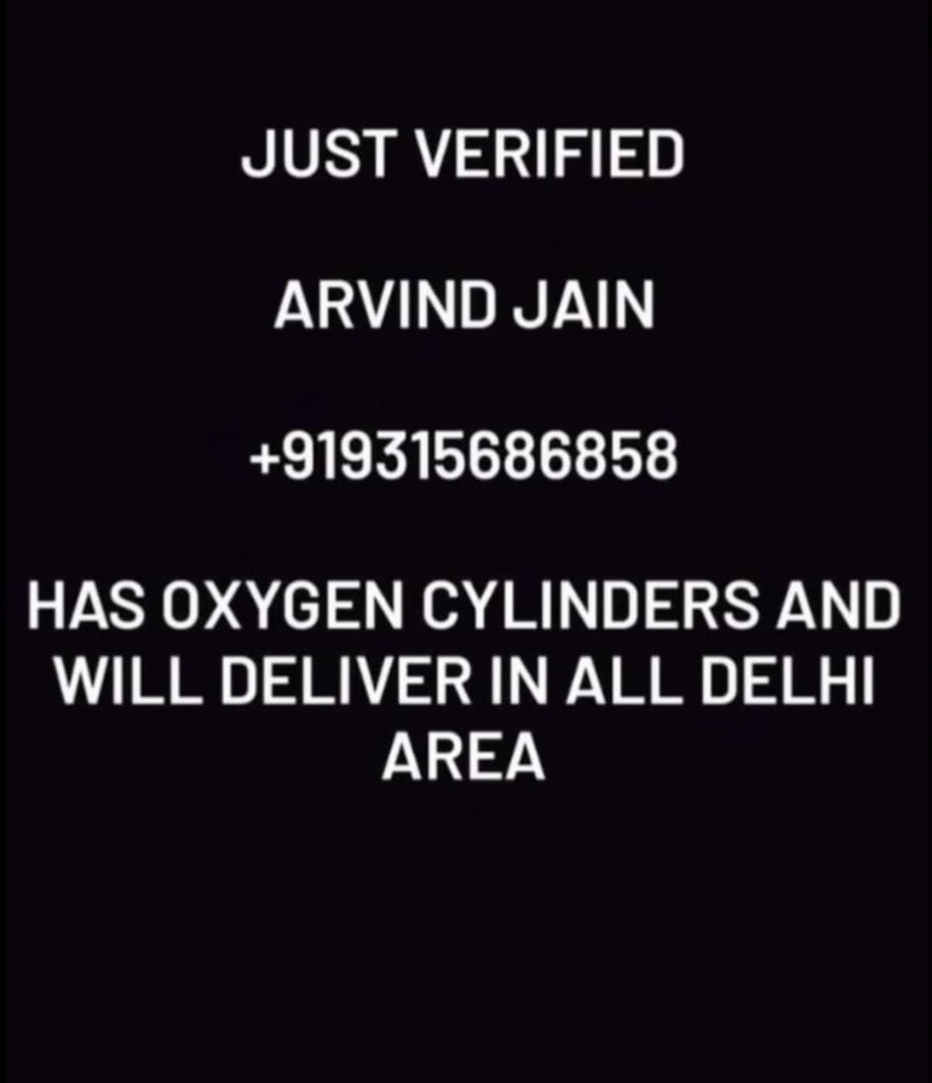 RT @Dikshas_96: Oxygen Cylinder  Delhi https://t.co/0f76eseDIF