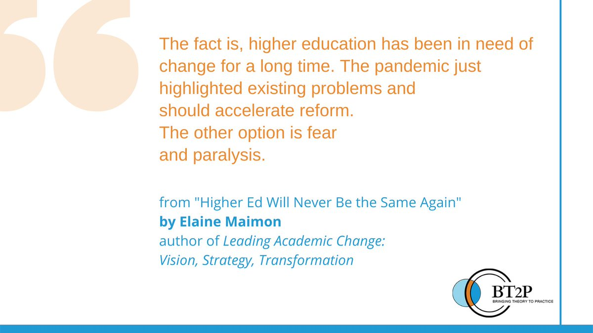 To read Elaine Maimon's full article on recent changes in #highered, visit our blog at: https://t.co/wk0spl2MQz