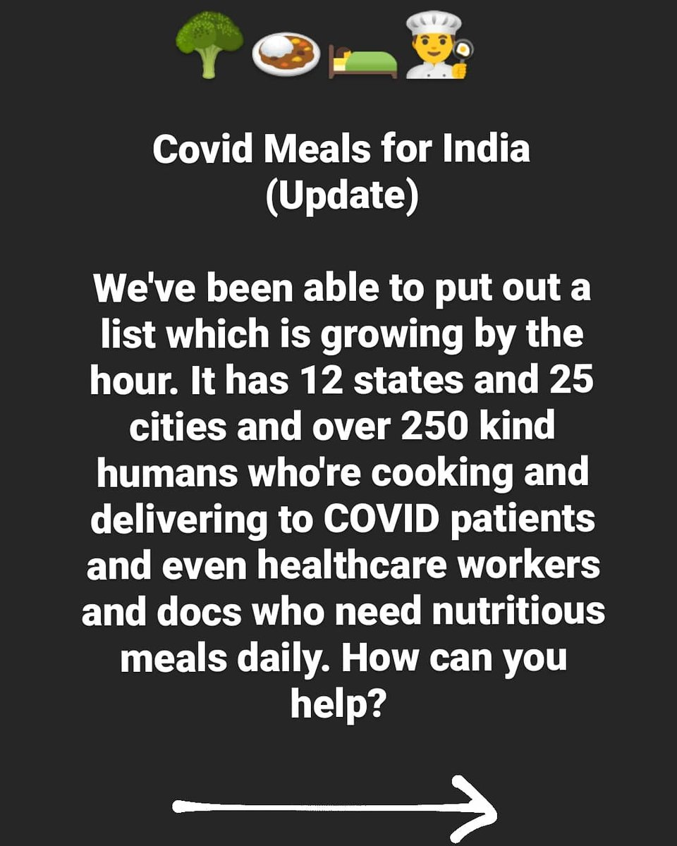 This list is for Covid meal providers for patients who can't cook or docs who need daily meals is across India. The list will keep updating every 30-60 mins and all you have to do is make sure a Covid patient in your community isn't going hungry. Share!  https://t.co/0DeP6Bvb3k https://t.co/yCjnMiPQjM