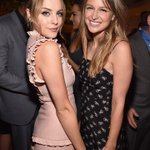 Image for the Tweet beginning: melissa benoist and elizabeth gillies