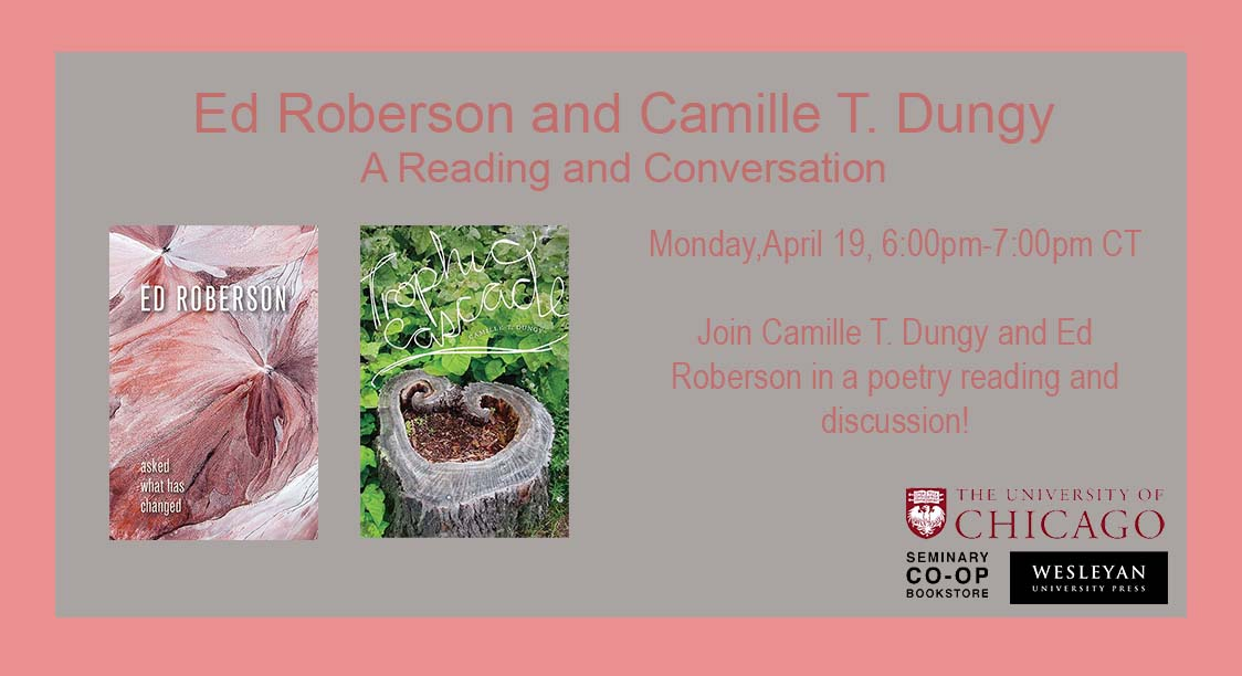 test Twitter Media - Check out Ed Roberson and Camille T Dungy as they engage in a poetry reading and discussion about the state of our environment! Register Here: https://t.co/Lv3RkNz9Z8  #EdRoberson #CamilleDungy #AskedWhathasChanged #TrophicCascade #ecopoetry #climatechange #environment #UChicago https://t.co/7cSzEpxOtw