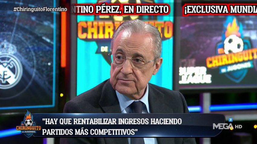 فلورنتينو بيريز :إن الفرق الكبيرة توصلت إلى