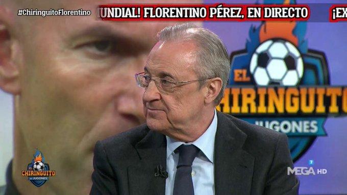 بيريز : زيدان افضل مدرب في تاريخ ريال مدريد