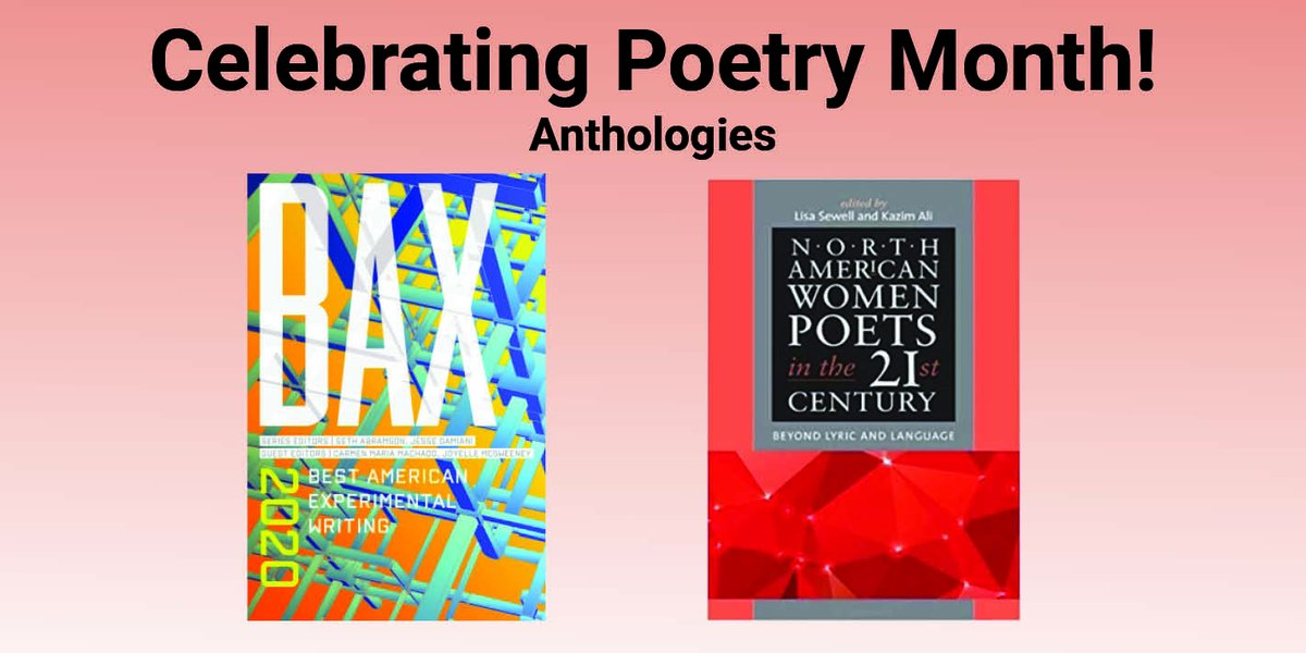 test Twitter Media - Celebrate #PoetryMonth with these exciting poetry anthology series! #BAX and #AmericanPoetsInThe21stCentury #ExperimentalWriting #WomenWriters @AvantGarde #AmericanPoetry Read more on our blog!  https://t.co/ynCCBZvT45 https://t.co/ttYmKkXEIJ