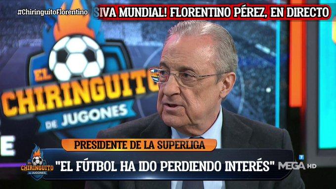 فلورنتينو بيريز:يجب أن تتطور كرة القدم. لقد