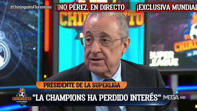 فلورنتينو بيريز:لم يتم إغلاق السوبر ليغ لأي