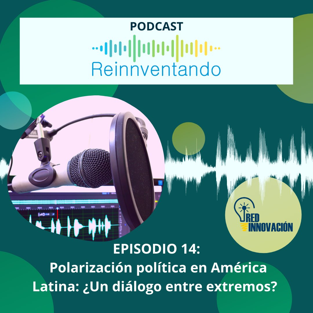 New --> Listen to the latest podcast episode from @Red_Innovacion about the impacts political polarization has on democracies in Latin America🌎. To find out more, listen here: https://t.co/YP04cm07bu