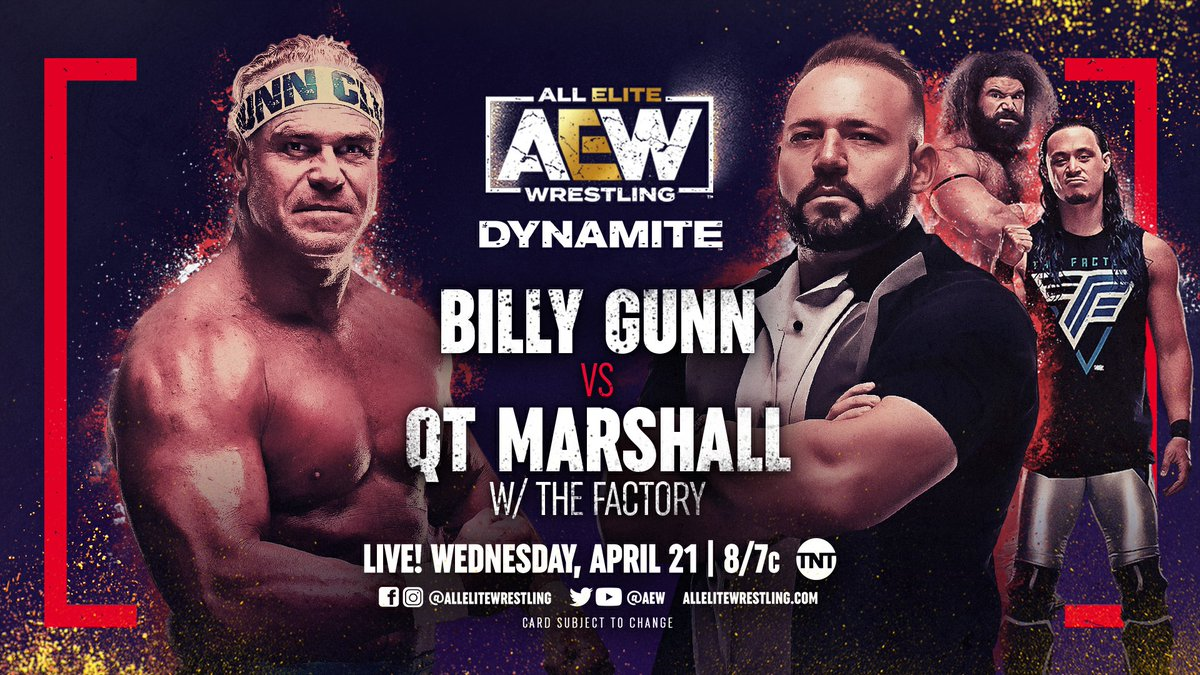 Updated Line-Up For AEW Dynamite, New Match Added